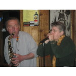 Brian on Sax and Ginny on Harp