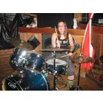 Becca on Drums